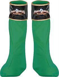 CHILD GREEN POWER RANGERS MYSTIC FORCE BOOT COVERS COSTUME DG14627