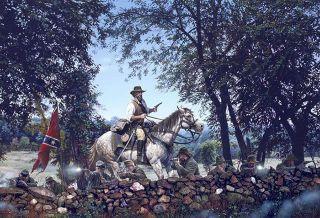 Brices Crossroads John Paul Strain Civil War Print   Maj General