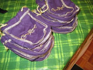 Crown Royal 12 Mini Bags Size of a deck cards Great for Quilts UNIQUE