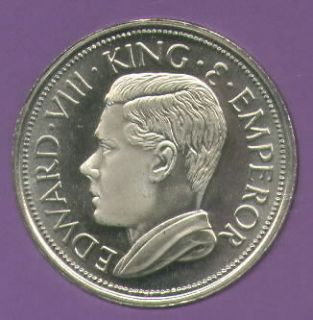 1936 Cyprus King Edward VIII Abdicated Pattern Crown Coin UNC in