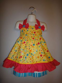 Pageant yellow multi dots casual wear outfit 24m OOC