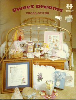 Babies People Cross stitch patterns SWEET DREAMS Jar lids Pillows