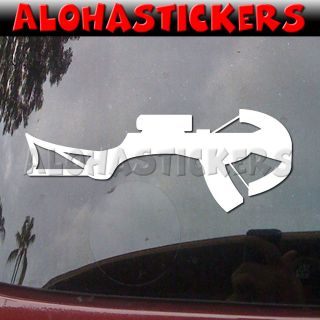 HUNTING CROSSBOW BOW HUNTER Elk Car Truck Laptop Vinyl Decal Window