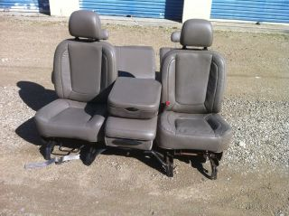 DODGE RAM 1500 2500 LEATHER SEATS LIGHT GREY RARE DRIVER POWERED SEAT