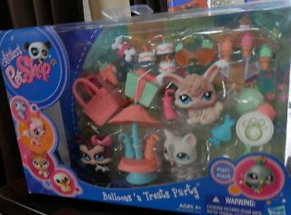 Littlest Pet Shop Balloons N Treats Party Bunny 1471 Cat 1472 Dog 1473