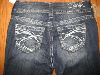 Womens Silver Jeans Suki Boot cut 25 x 34 L MSRP $75 Embroidered name