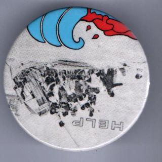 1970s pin CUBAN BOATLIFT pinback button Cuba Refugee