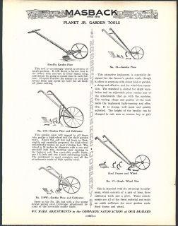 1936 ad Plane Jr Garden Culivaor Hand Plow Iron Dibble