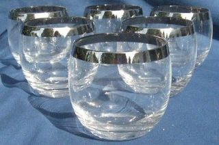 Vintage Mid Century Dorothy Thorpe Roly Poly Glasses Silver Rim Mad