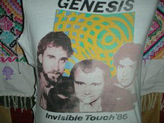 VTG 80s GENESIS CONCERT TOUR BAND CUT OFF T SHIRT PROGRESSIVE ROCK YES