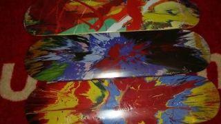 SUPREME DAMIEN HIRST BOX LOGO SPIN SKATEBOARD DECK SET OF BRAND NEW