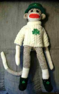KELLY O MALLY IRISH RED HEEL ROCKFORD SOCK MONKEY