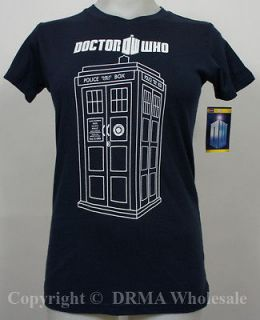Authentic DR. WHO Tardis Vector Girl Juniors Tee T Shirt S M L XL