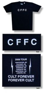 New The Cult CFFC Cult Forever 2006 Tour X Large Black T shirt