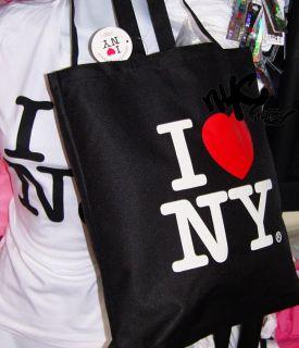 LOVE NY TOTE SHOULDER BAG BLACK GYM SHOPPING WOMENS