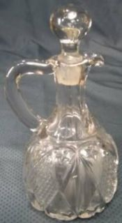 Antique Stars & Diamond Panel EAPG Blown Glass Cruet