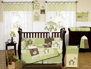 UNISEX NEUTRAL FROG BABY BOY OR GIRL CRIB BEDDING COMFORTER SET ROOM