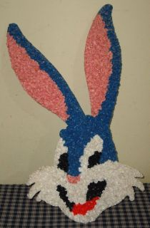 Vintage Melted Plastic Popcorn Warner Brothers Bugs Bunny Decoration
