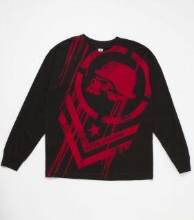 Metal Mulisha Boys DISSOLVE Tee Black Long Sleeve Graphic T Shirt