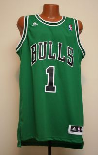 Chicago Bulls Derrick Rose NBA Adidas Green St. Pats Swingman Jersey