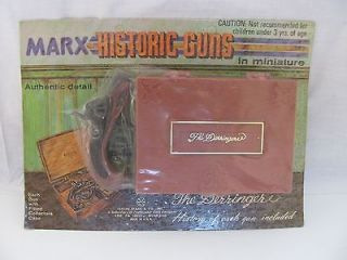 Marx Miniatures Historic Guns Derringer Cap Gun with Case on Card