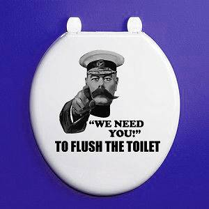 YOU TO FLUSH THE TOILET   Novelty / Humorous Toilet Seat Vinyl Sticker