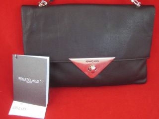 RENATO ANGI ITALY Soft Black Leather NEW Evening Cross Body Bag