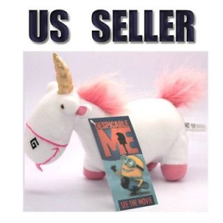 Despicable Me UNICORN Horse fluffy plush toy 10 Animal Doll from US