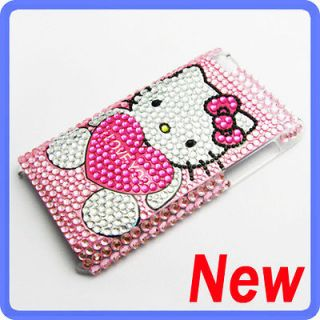 Hello Kitty Bling Diamond Back Case Cover For iPod Touch iTouch 4 G