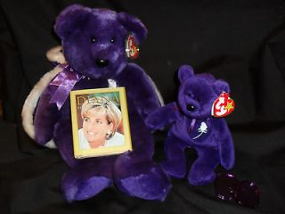 TY PRINCESS DIANA BEANIE BABY, 1ST ED., UN #, PVC PELLETS, CHINA