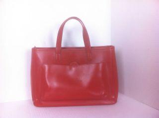 Lamarthe Red Leather Handbag Purse Size Medium
