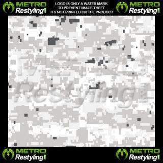 Digital Snow Camouflage Vinyl Decal Wrap Sheet 72x48