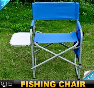 Foldable Picnic Fishing Directors Chair With Side Table Pockets