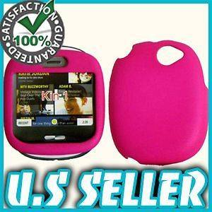 RUBBER PINK HARD SNAP CASE COVER FOR SHARP KIN 1 ONE