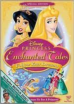 Disney Princess Enchanted Tales Follow Your Dreams DVD, 2009, 2 Disc
