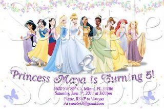 Disney Princess Belle Cinderella Aurora Jazmin Custom Birthday