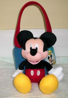 Mickey Mouse Plush Basket Many uses New Ships Priority