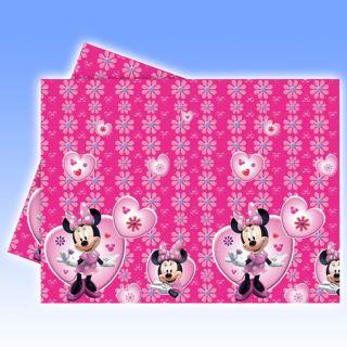 180cm Disney Minnie Mouse Party Plastic Table Cover