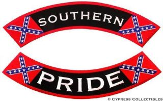 SOUTHERN PRIDE embroidered patch CONFEDERATE FLAG LARGE Civil War