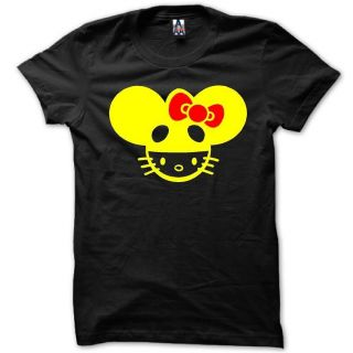 Unisex Men Women Music Musical DJ Deadmau5 Hello Kitty Head T Shirt 2
