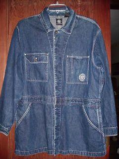 Vintage DKNY Jeans Donna Karan Man / Woman Long Denim Jacket Coat