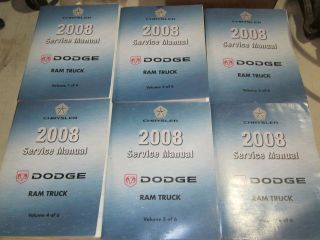 2008 RAM TRUCK SERVICE REPAIR MANUAL 6 VOL SET