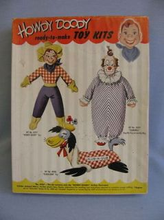 16 HOWDY DOODY Mask Face Doll Kit #H207 STUFTOY 1950