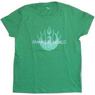 JIMMY EAT WORLD BIRD LOGO GREEN BABY DOLL GIRLS JR T SHIRT SMALL NEW