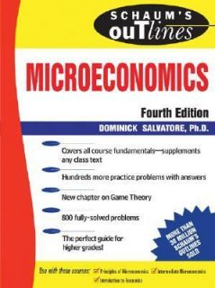 of Microeconomic Theory by Dominick Salvatore 1991, Paperback