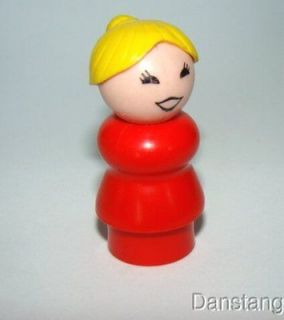 Vintage FISHER PRICE Little People McDonald s DARK RED WOMAN / MOM
