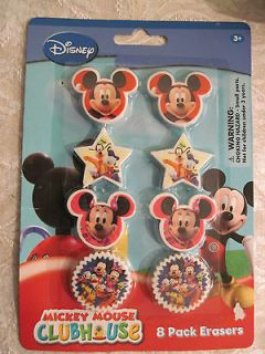mickey mouse clubhouse 8 erasers pack minnie goofy donald pluto