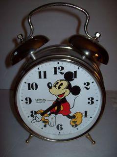 Mickey Mouse Lorus Quartz Two Bell Alarm Clock JAPAN