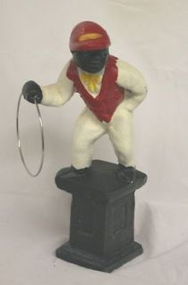 Heavy Classic Lawn Jockey Style Door Stop Cast Iron FREE Shipping