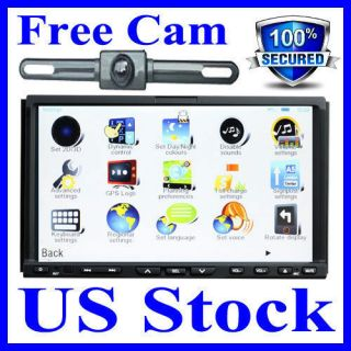 Car DVD Player Double Din GPS Navigation Radio+CAMERA